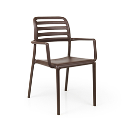 NARDI set of 4 outdoor chair with arms COSTA GARDEN COLLECTION