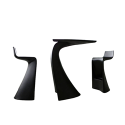VONDOM set de 2 tabourets et table haute WING