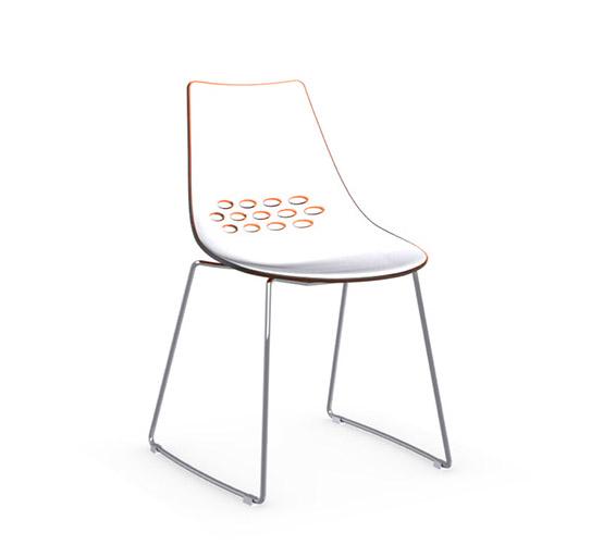 CONNUBIA CALLIGARIS set da 2 sedie JAM CB/1030 (Bianco / Arancio ...