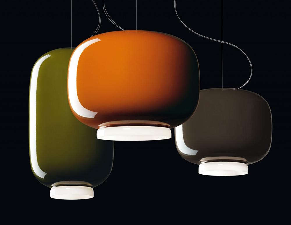 Lampade A Sospensione Foscarini : Foscarini lampada a sospensione chouchin verde vetro soffiato