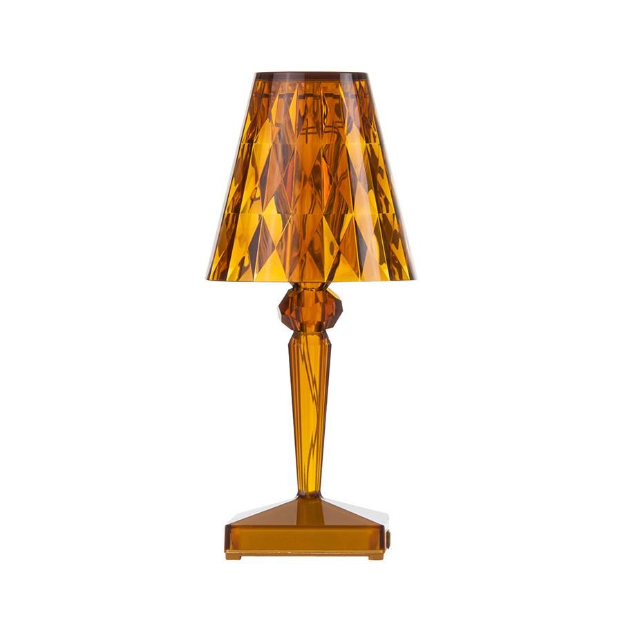 Kartell Table Lamp Battery Amber Transparent Pmma Myareadesign It