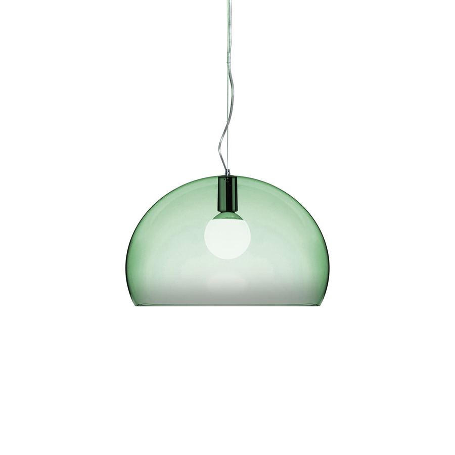Kartell Pendant Lamp Small Fl Y Fly Sage Green Transparent Pmma