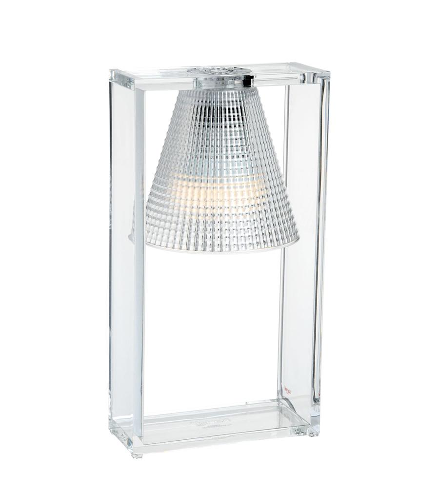 Kartell Lampada Da Tavolo Light Air Versione Sculturata Cristallo Tecnopolimero Termoplastico Trasparente Myareadesign It