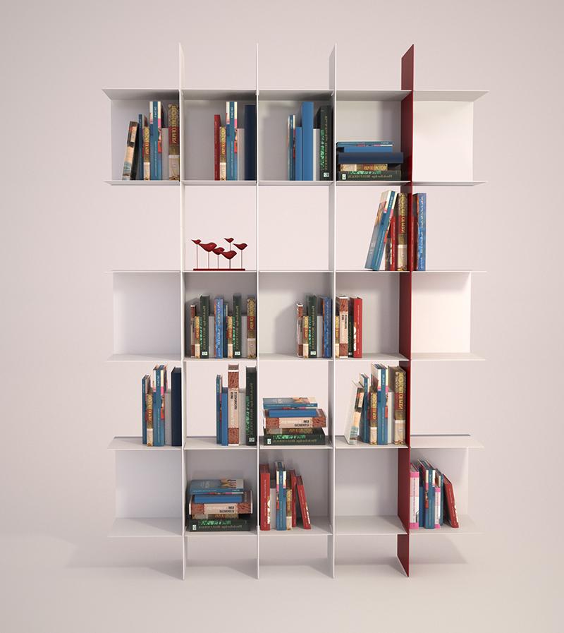meme design libreria da parete innesto colore a scelta metallo. Black Bedroom Furniture Sets. Home Design Ideas