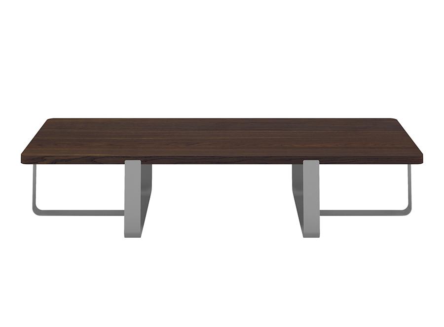 Meme design tavolino inn pioggia rovere fumé e metallo