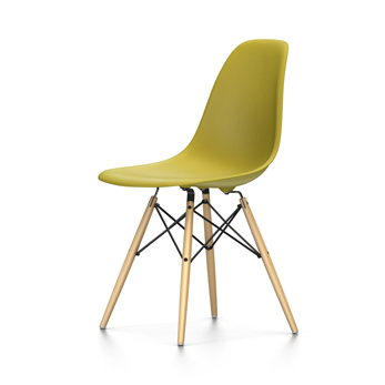 VITRA Eames Plastic Side Chair DSW NEW DIMENSIONS (Mustard ...