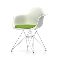 VITRA Eames Plastic Armchair with cushion DAR NEW DIMENSIONS