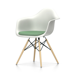 VITRA Eames Plastic Armchair with cushion DAW NEW DIMENSIONS