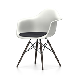 VITRA Eames Plastic Armchair with cushion and black base DAW NEW DIMENSIONS