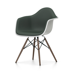 VITRA Eames Plastic Armchair full padding dark base DAW NEW DIMENSIONS