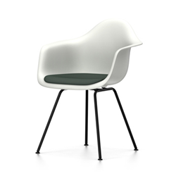 VITRA Eames Plastic Armchair with cushion and black base DAX NEW DIMENSIONS