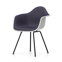 VITRA Eames Plastic Armchair with full padding and black base DAX NEW DIMENSIONS