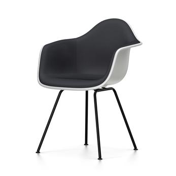 DAX fauteuil DIMENSIONSBlanccoussin noir Eames noir Polypropylene VITRA NOUVELLES avec total chaise piètement Plastic Armchair rembourrage et wm8Nn0