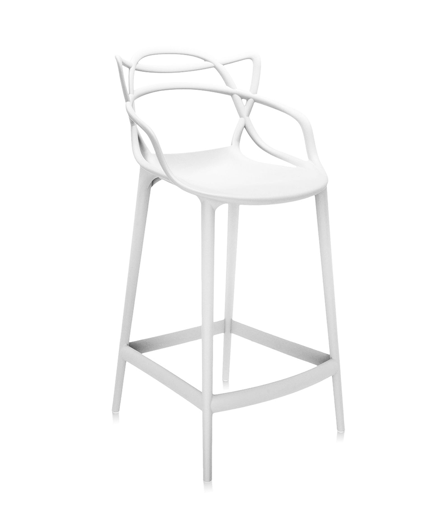Kartell sgabello masters stool h 65 cm bianco for Sgabelli kartell outlet