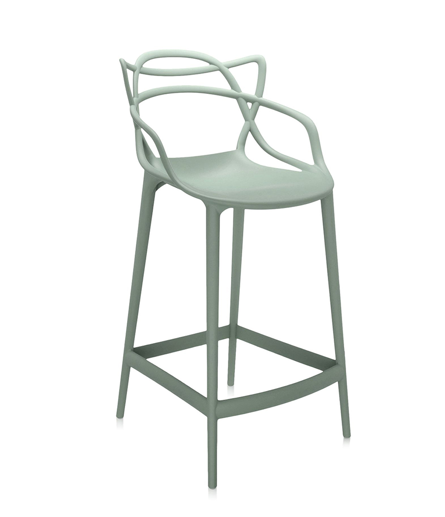 Kartell Stool Masters Stool H 65 Cm Sage Green Coloured
