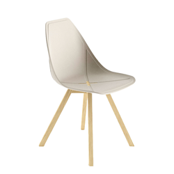 ALMA DESIGN X Chair Collection set de 4 chaises X WOOD
