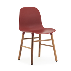 NORMANN COPENHAGEN set da 2 sedie FORM CHAIR basamento in noce