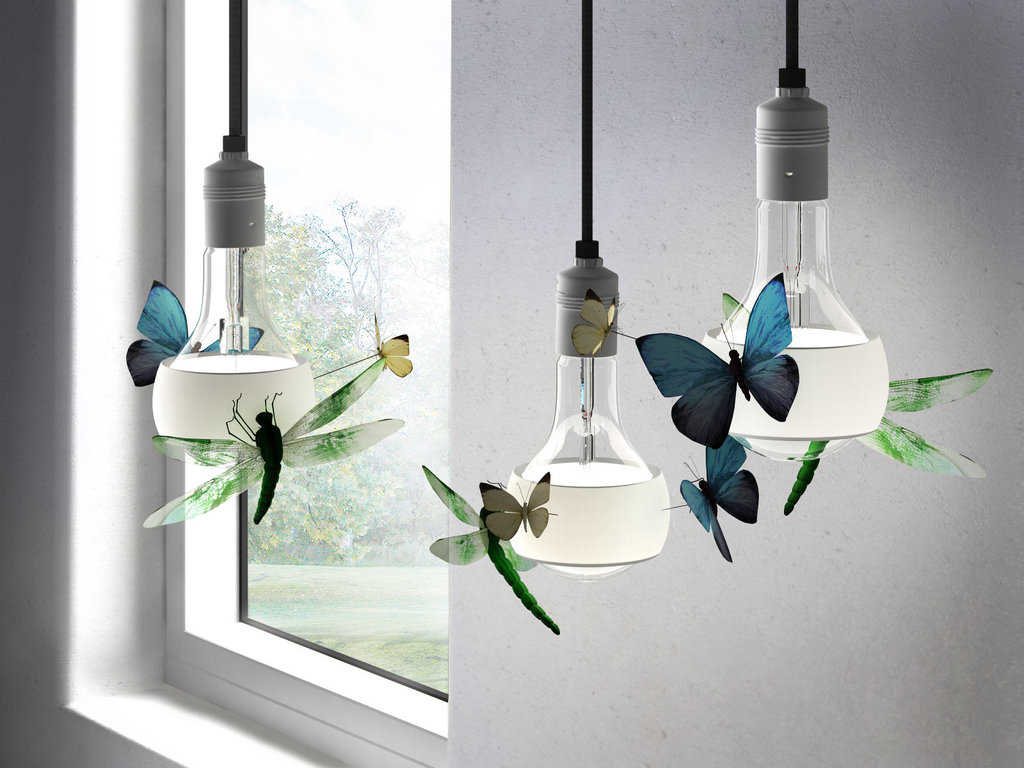 INGO MAURER lampada a sospensione JOHNNY B. BUTTERFLY - MyAreaDesign.it