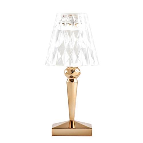 KARTELL lampada da tavolo BATTERY (Oro - PMMA metallizzato ...