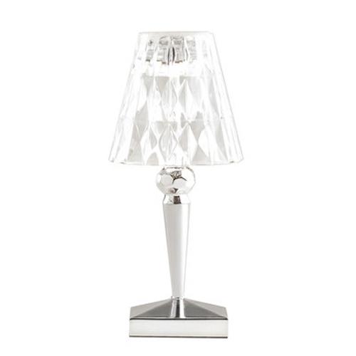 Kartell lampada da tavolo battery cromato pmma for Lampada kartell prezzo