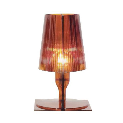 KARTELL lampada da tavolo TAKE (Ambra - Policarbonato trasparente)