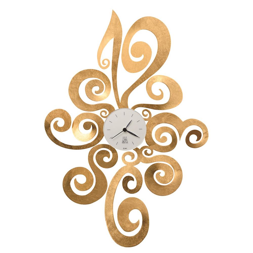 Arti e mestieri orologio da parete noemi foglia oro for Orologi da parete moderni arte e mestieri