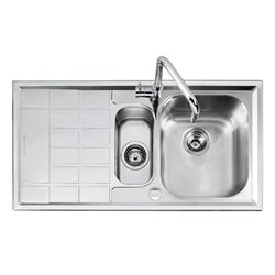 BARAZZA sink with 1 bowl and a half + left drainer B_LEVEL 1LLV100/S
