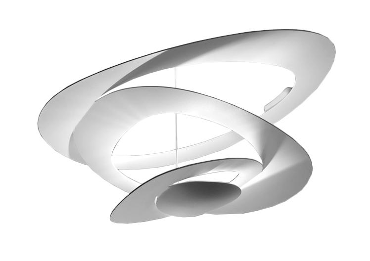 Artemide lampada da soffitto pirce bianco a led alluminio