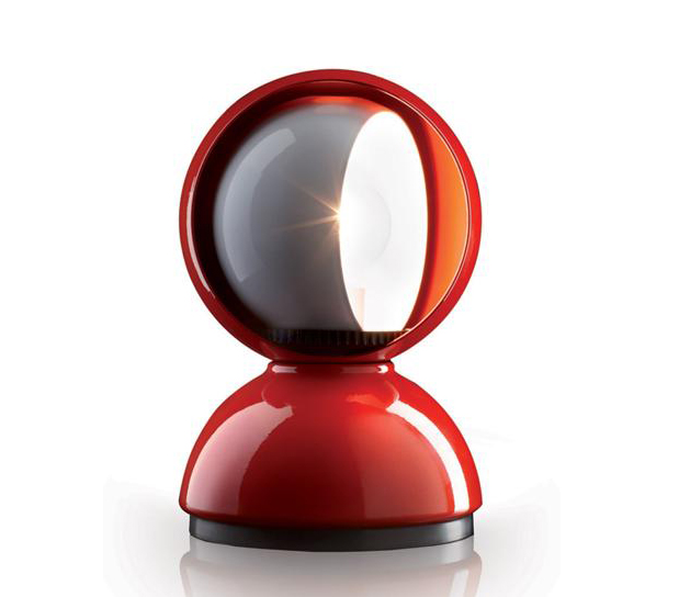 Artemide lampada da tavolo o parete eclisse rosso acciaio tecnopolimero - Lampada da tavolo vico magistretti ...