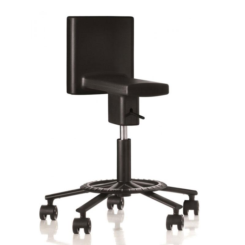 Magis sedia girevole su ruote 360 chair nero acciaio e for Sedia design girevole