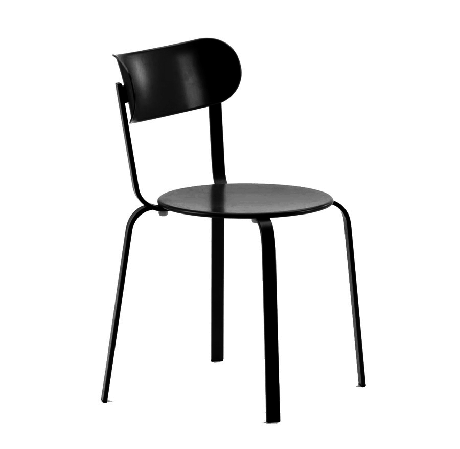 LAPALMA set da 2 sedie STIL (Nero - Metallo verniciato ...