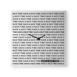 dESIGNoBJECT wall clock NICE TIME