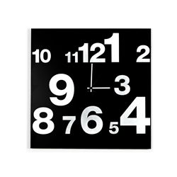 dESIGNoBJECT wall clock NUMBERS CLOCK