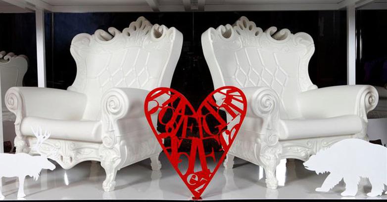 SLIDE poltrona LITTLE QUEEN OF LOVE (Rosso - Polietilene ...