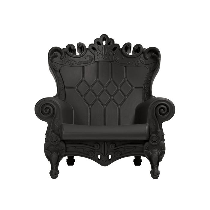 Poltrona Little Queen Of Love.Slide Armchair Little Queen Of Love Black Polyethylene
