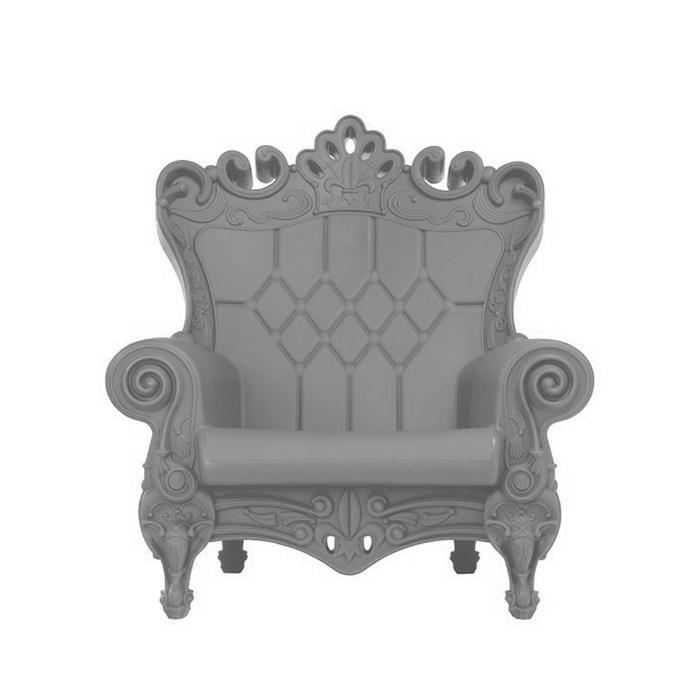 Poltrona Little Queen Of Love.Slide Armchair Little Queen Of Love Grey Polyethylene