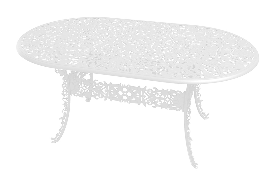 SELETTI tavolo ovale INDUSTRY GARDEN (Bianco - Alluminio ...