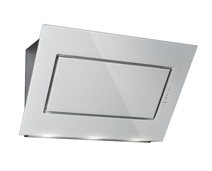 falmec cappa da parete quasar bianco 90 cm acciaio inox vetro. Black Bedroom Furniture Sets. Home Design Ideas