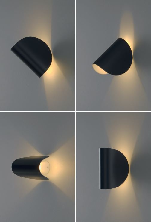 FONTANA ARTE wall lamp IO (Blue - Varnished aluminum) - MyAreaDesign.it
