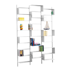 KRIPTONITE wall bookcase 25/52 MATT WHITE finishing