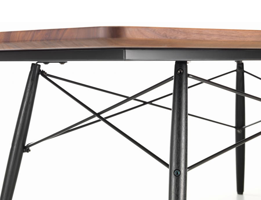 vitra table basse rectangulaire eames coffee table noyer am ricain bois massif huil fr ne. Black Bedroom Furniture Sets. Home Design Ideas