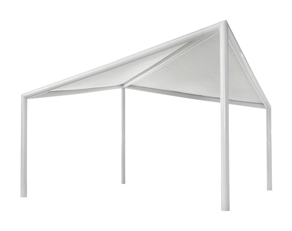Myyour gazebo per esterni kite 5x5 m pvc alluminio e acciaio