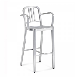 EMECO NAVY BARSTOOL WITH ARMS sgabello con braccioli