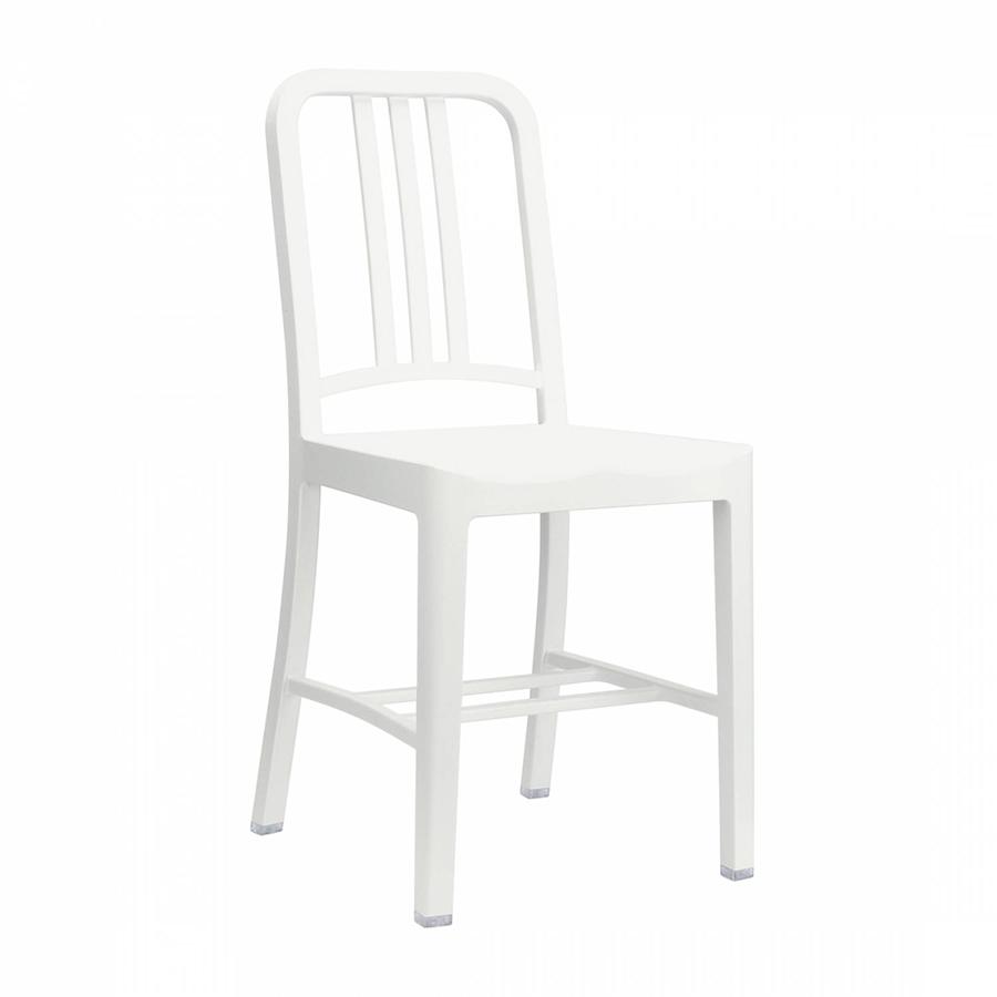 Sedie In Plastica Riciclata.Emeco Navy Chair 111 Set Da 2 Sedie Senza Braccioli Snow White