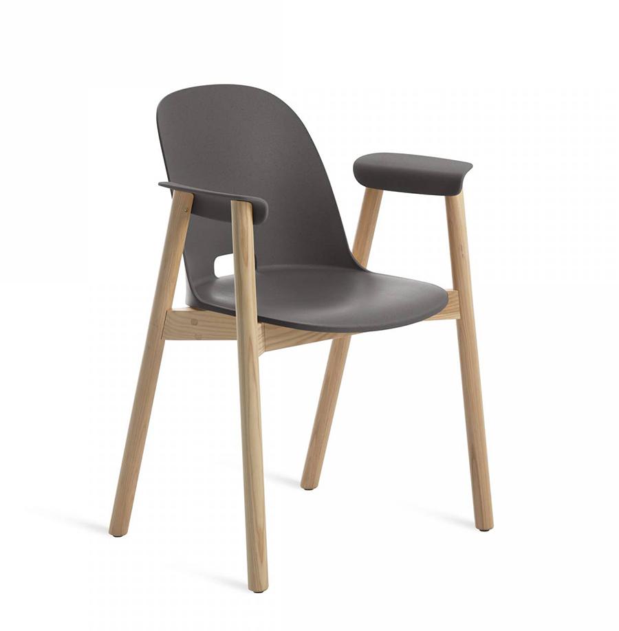 EMECO ALFI ARMCHAIR HIGH BACK sedia con braccioli e schienale alto ...