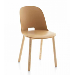 EMECO ALFI CHAIR HIGH BACK sedia con schienale alto