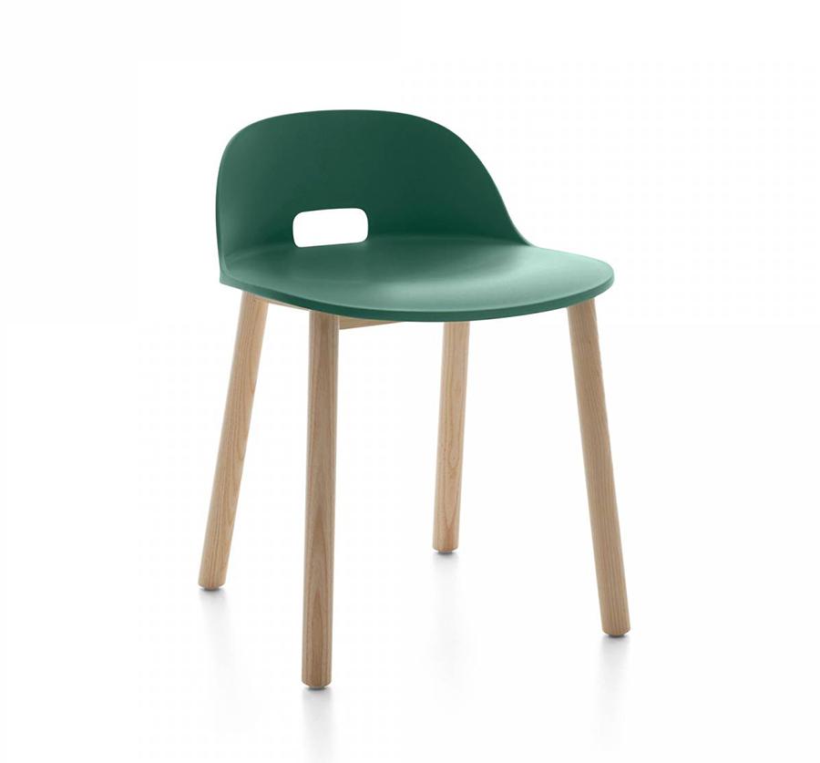 Emeco alfi chair low back sedia con schienale basso for Sedie a basso prezzo