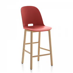 EMECO ALFI COUNTER STOOL HIGH BACK sgabello con schienale alto