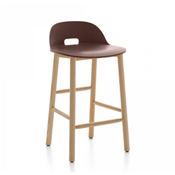 EMECO ALFI COUNTER STOOL LOW BACK sgabello con schienale basso