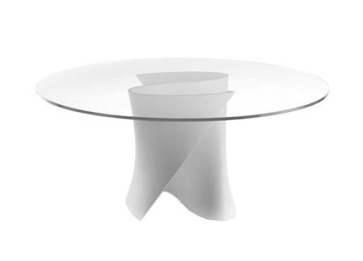 Tavolo tondo ovale resina tolomeo bianco cm arredo giardino